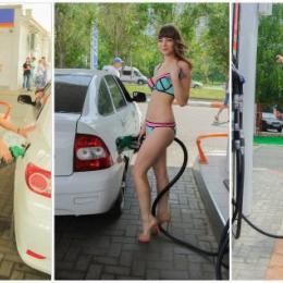 Posto oferece gasolina de graça para pessoas de biquíni
