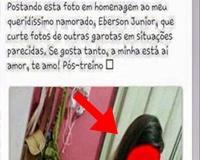 Garota posta foto em homenagem a namorada vacilão