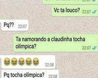 Claudinha tocha olímpica