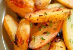 Batatas fritas de forno com queijo parmesão