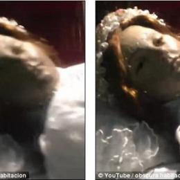 Mistério, Santa abre os olhos para turista em vídeo e causa polêmica