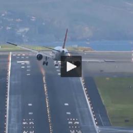 Avião faz 4 tentativas assustadoras para aterrar no aeroporto mais...