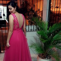 Look do dia: vestido rosa de festa