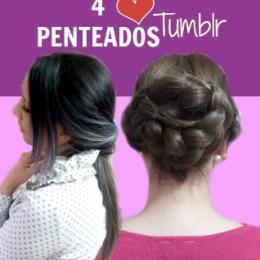 Aprenda a fazer quatro penteados princesa tumblr