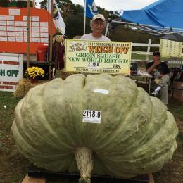 Fazendeiro bate recorde mundial com abóbora de 960 kg