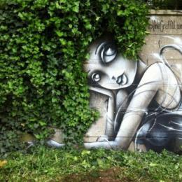 Incríveis artes de rua interagindo com a natureza