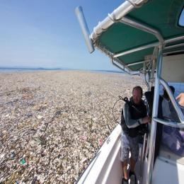 Um oceano de lixo no Caribe