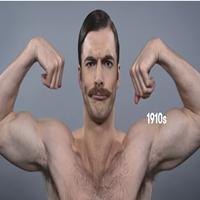 100 anos de mudança no padrão de beleza masculino em um minuto
