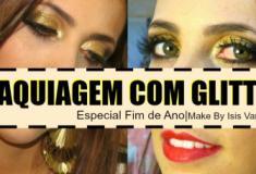 Aprenda a colocar glitter na maquiagem (especial de fim de ano)