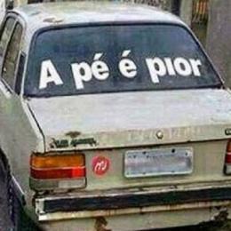 20 frases de vidros de carros muito engraçadas