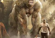 Dwayne Johnson e George juntos no 2º trailer de Rampage: A Fúria dos Monstros