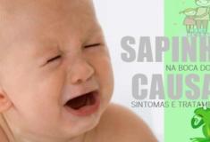 Sapinhos na boca do bebé (causas, sintomas, tratamentos)