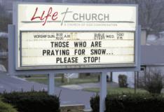 Igreja pede a fiéis que 'parem de orar por neve' nos EUA