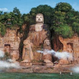 O gigante Buda de pedra da China