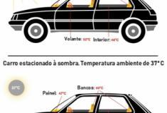 Carros ao sol atingem temperaturas mortais em 1 hora