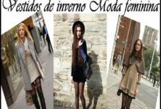 Vestidos de inverno moda feminina