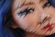 O que essa artista faz com seu rosto vai confundir sua mente