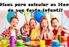 Como calcular os itens para sua festa infantil