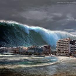 O derreter dos glaciares provocam tsunamis assustadores