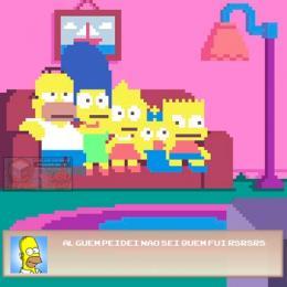 Simpsons em versão de pixels