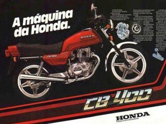 Honda CB 400 - Seu design era um ícone da década de 1980.