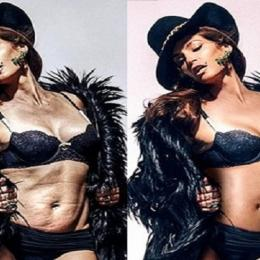 15 famosas antes e depois do Photoshop