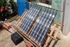 Aquecedor solar de garrafa PET