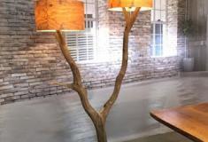 Como aproveitar os ramos secos para fazer um candeeiro de sala