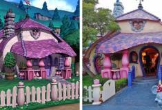 As casas de desenhos animados que foram construídas na vida real