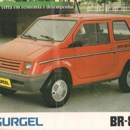 GURGEL BR 800 - foi o primeiro automóvel a ser fabricado com tecnologia nacional