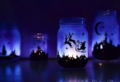 Como fazer lindas lanternas de natal com frascos