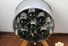 Como transformar um tambor de máquina de lavar numa garrafeira