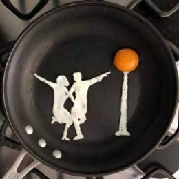 Comida: brincando com os ovos