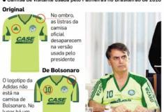 Bolsonaro participa de reunião em Brasília com camisa 'pirata' do Palmeiras