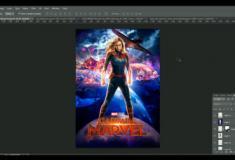 Aprenda a criar um cartaz incrível da capitã marvel no photoshop