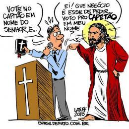 Votar em Bolsonaro é votar nos ensinamentos de Jesus Cristo?