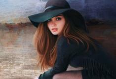 A talentosa artista americana que se aperfeiçoou no retrato feminino