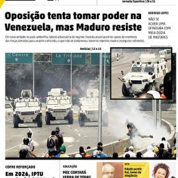 A crise na Venezuela nas capas dos jornais brasileiros