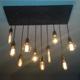 Como fazer uma luminária rustica com pendentes