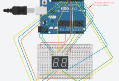 Contando de 00 a 99 com dois displays 7 segmentos e Arduino