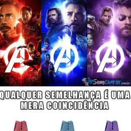 Marketing de vingadores (Avengers) que ninguém sabia