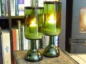 Como fazer uma luminária, estilo calice, com uma garrafa de vinho