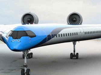 """KLM financia o desenvolvimento do avião futurista """"Flying V"""""""