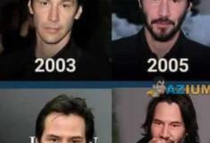 A evolução de Keanu Reeves