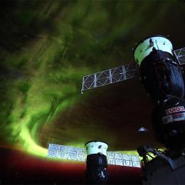 Observando uma aurora polar da Estação Espacial Internacional
