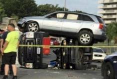 Acidentes estranhos com carros