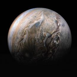 A majestade de Júpiter em uma imagem colaborativa