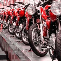 Produção de motos cresce mais de 20%