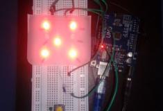 Dado eletrônico de leds com Arduino