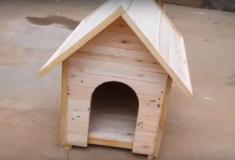 Como fazer uma casota para cão com paletes